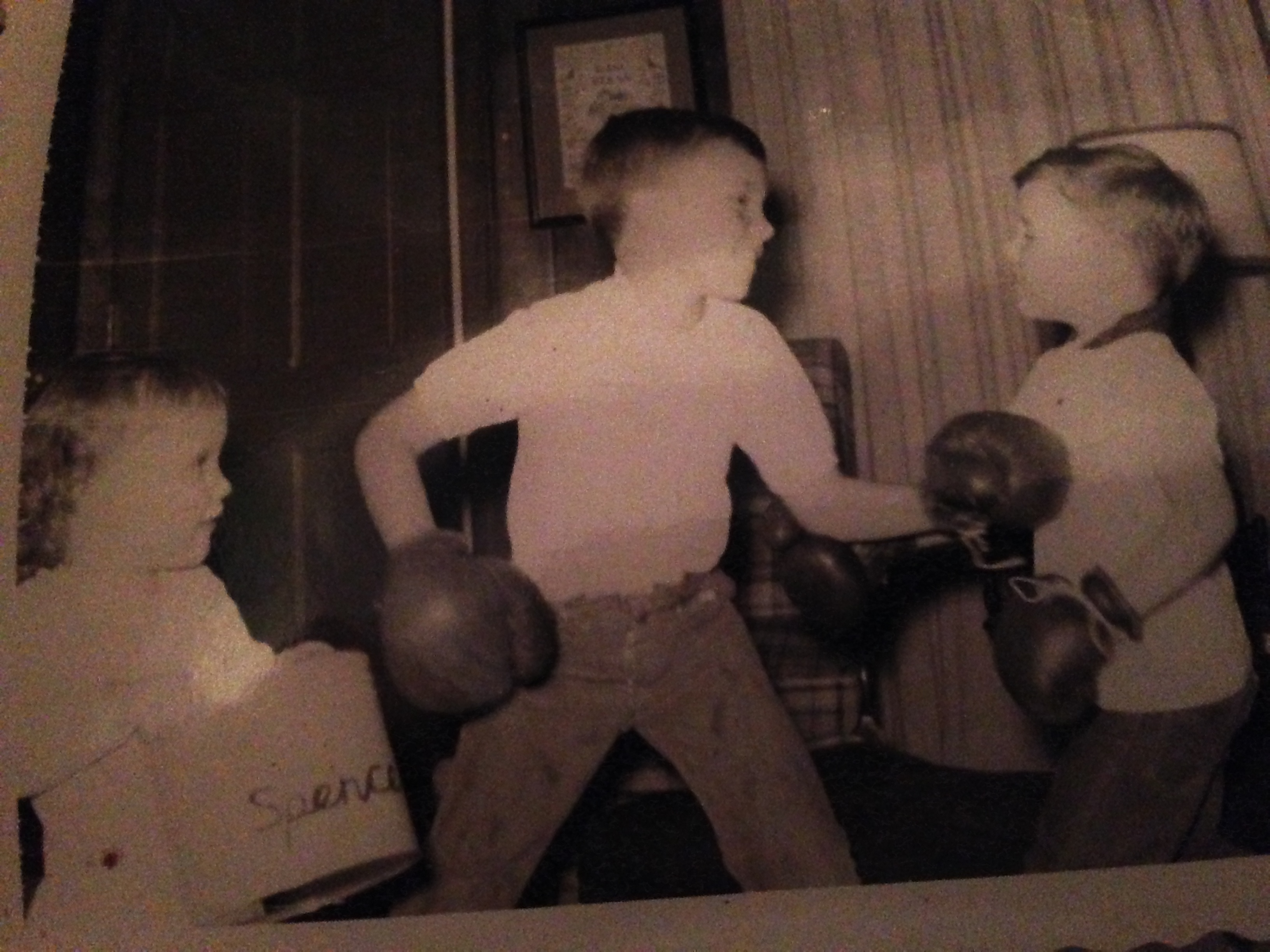 I wanted in on the action. Looks like I was on my brother Spencer's team.
