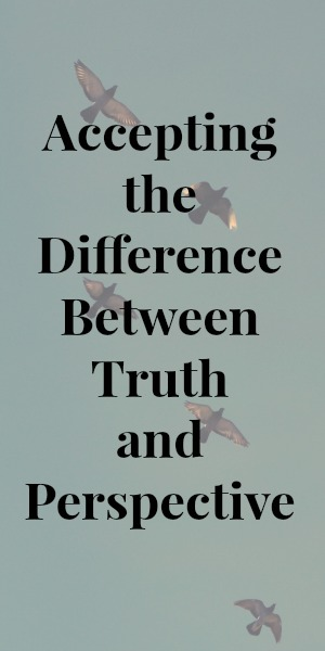 Accepting the Difference Between Truth and Perspective