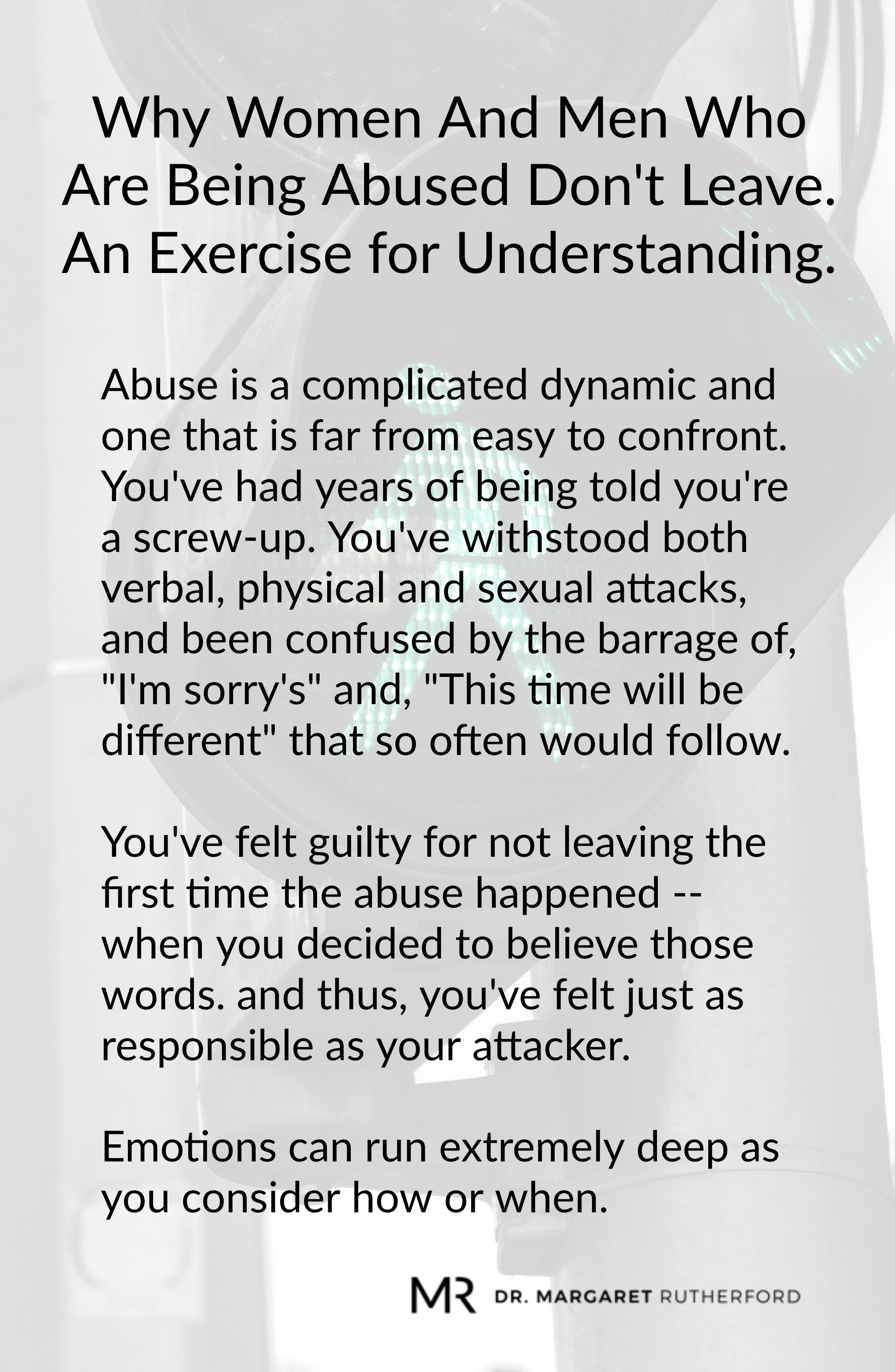 Why Women And Men Who Are Being Abused Dont Leave An Exercise For Understanding -5838