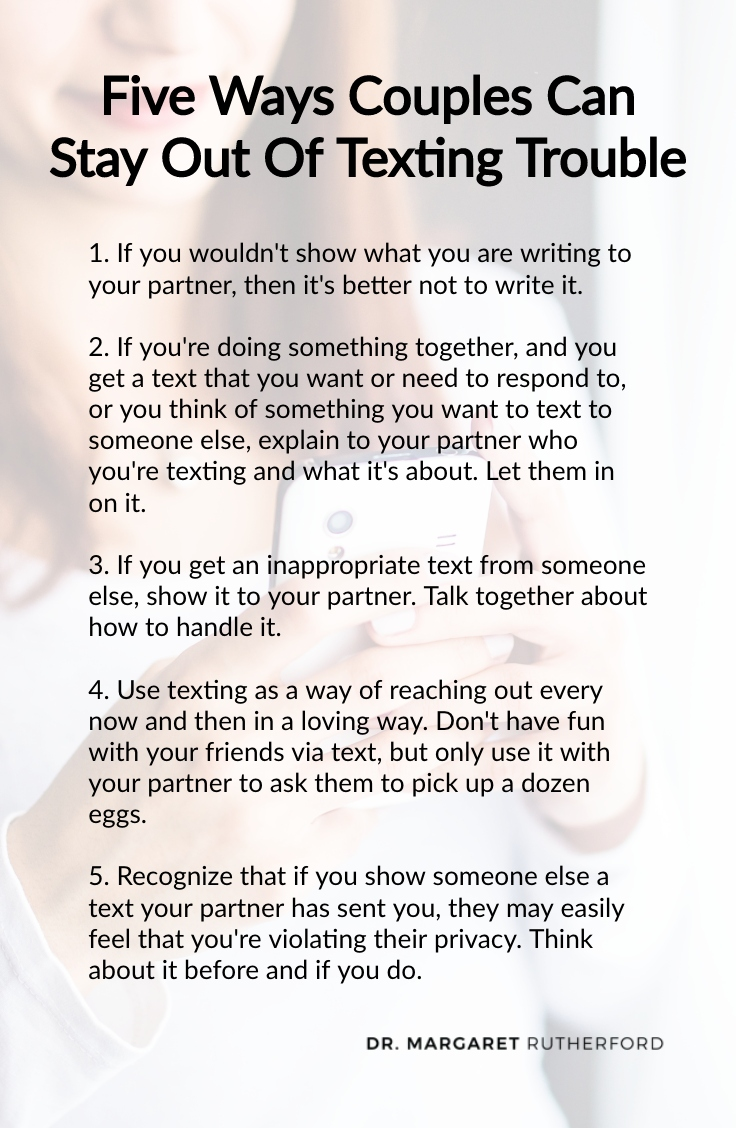 Ten Ways To Stay Out Of Texting Trouble - Dr  Margaret Rutherford